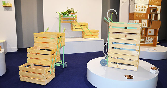 Pfiffiges Regalsystem aus Holzkisten. Portabel, nachhaltig,schön © ecowoman.de