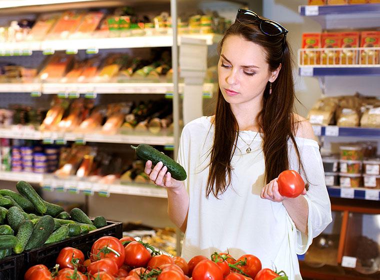 Das Angebot im Supermarkt ist oft einseitig.