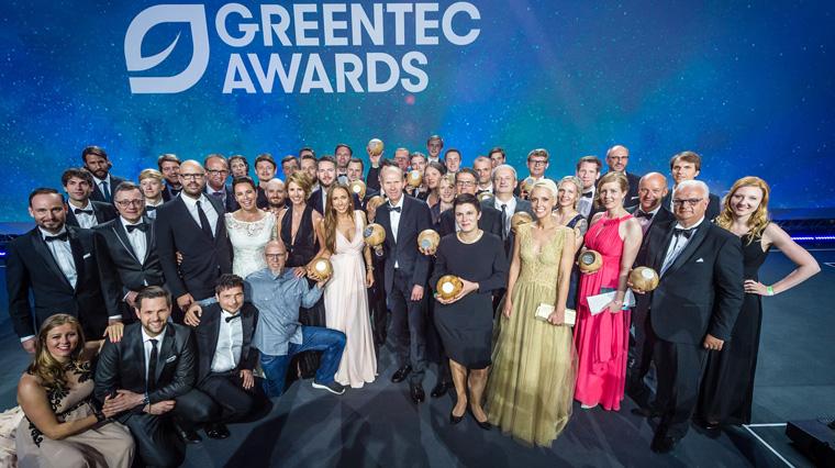 So sehen Sieger aus: Die Gewinner der GreenTec Awards und die Laudatoren
