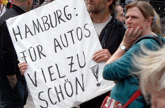 Hamburg plant autofreie City bis 2020