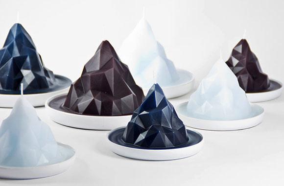 Gletscher-Kerze schmilzt wie ein Eisberg