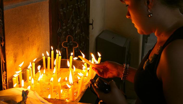 Kerzen für den Glauben