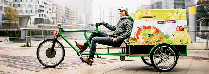 Lastenräder sind vielseitig einsetzbar und umweltfreundlich © Cargo Cycle