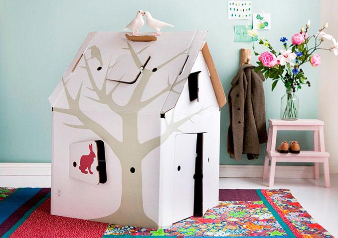 Für die Kinder gibt's auch was auf mehr-gruen.de zum Beispiel das Kinderspielhaus studio ROOF Casa cabana