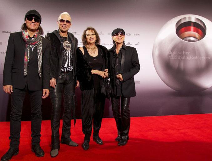 Die Scorpions beim Nachhaltigkeitspreis 2012