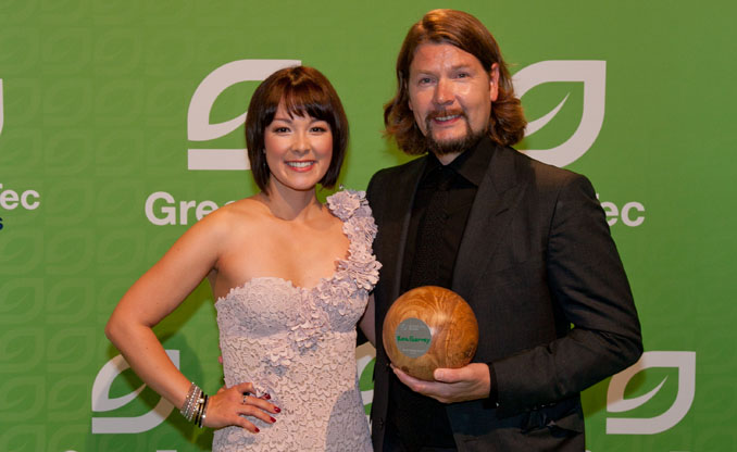 Nela Panghy-Lee war Laudatorin für Rea Garvey bei den ©GreenTec Awards