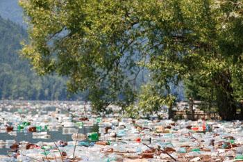 Der Müll landet nicht immer, aber auch in unseren Seen und Flüssen ©iStpckphoto