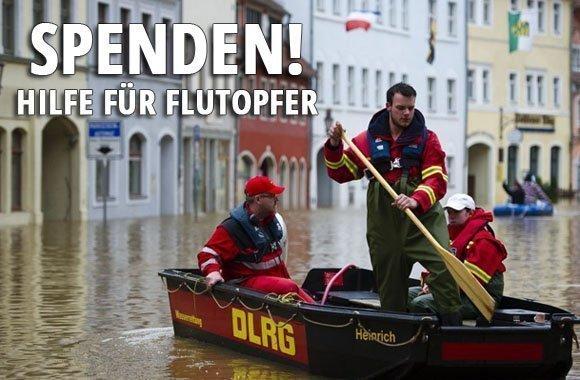 Hochwasser 2013: Hilfe für Flutopfer!