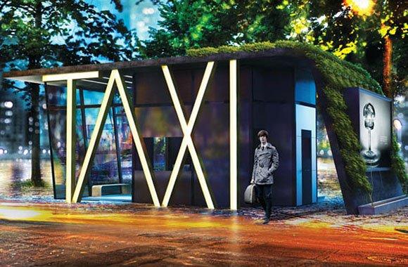 Taxistand: Vertikaler Design-Garten in der Stadt lässt Wartezeit vergehen