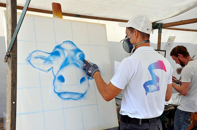 Das Rahmenprogramm bietet unter anderem die Gestaltung tierlieber Kunst © VEBU Deutschland