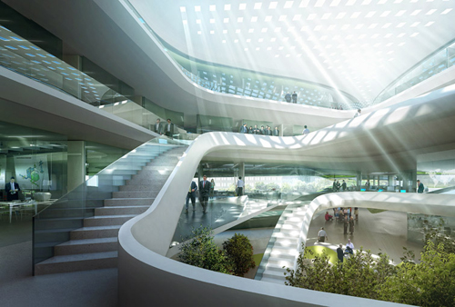 Architektur Entwurf Weltzentrale des Green Climate Fund für Bonn.