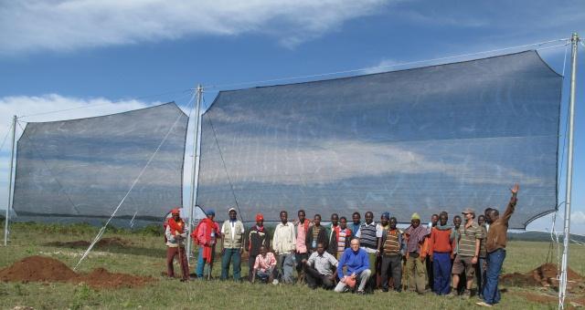 Nebelnetze von ped world bringen Wasser in trockene Regionen aus der Luft