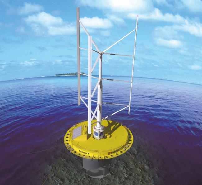 Skwid erzeugt Erneuerbare Energie: Windkraftanlage und Gezeitenkraftwerk in einem