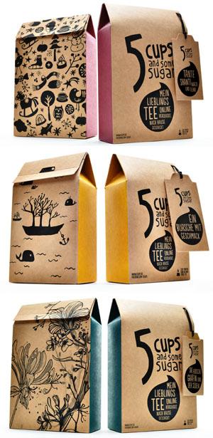 Jede Verpackung kann individuell aus den bestehenden Designs ausgesucht und mit einem eigenen Namen benennt werden © 5CUPS and some sugar