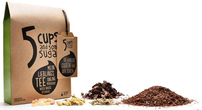 Aus rund 50 verschiedenen Kräutern, Früchten und Aromen lassen sich leckere Tees zaubern © 5CUPS and some sugar