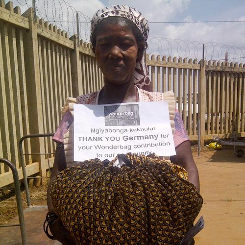 Afrikanerin bedankt sich für Wonderbag