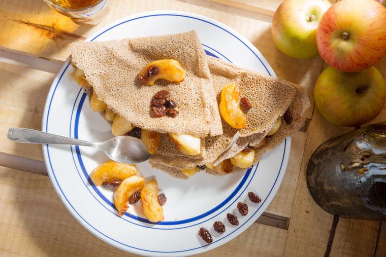 Rezeptidee: Chia-Apfel-Pfannkuchen