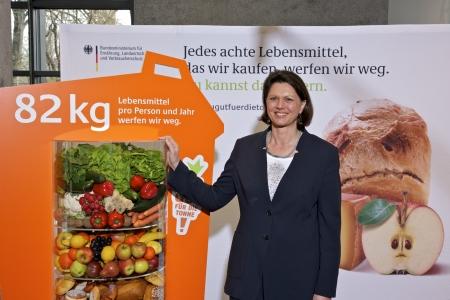 Initiative zu gut für die Tonne, Ilse Aigner und Christian Rach präsentieren App gegen Lebensmittelmüll