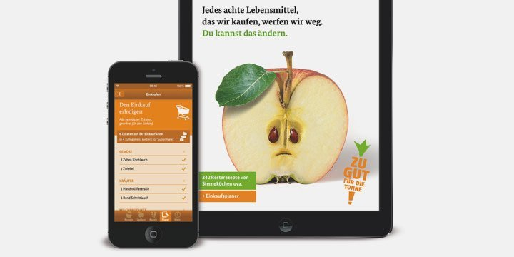 »Zu gut für die Tonne« - Eine App gegen die Lebensmittelverschwendung