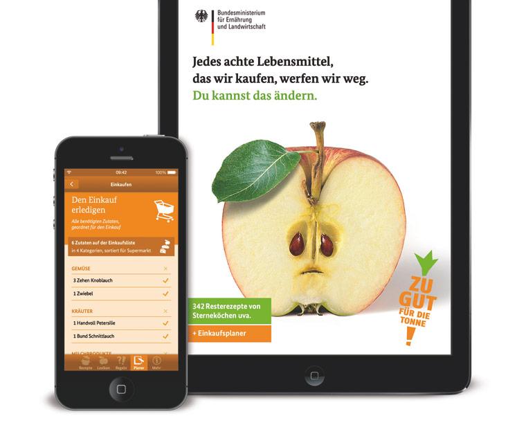 Restekochen mit der ZU GUT FÜR DIE TONNE App