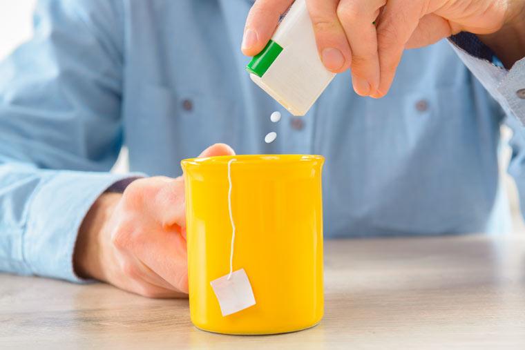 Vorsicht, Aspartam macht dick.