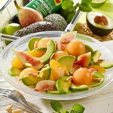 Rezept für veganen Avocadosalat mit Melone