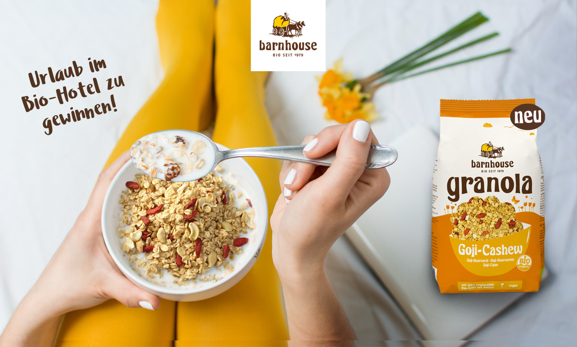 Barnhouse Granola Frühstück