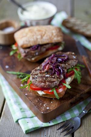 Auch das Rindersteak-Sandwich ist ein leckeres Fingerfood © Bord Bia