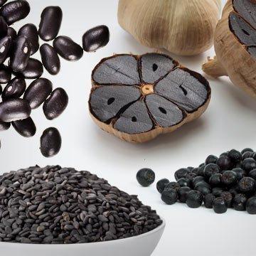 Schwarze Nahrungsmittel sind das neue Superfood!