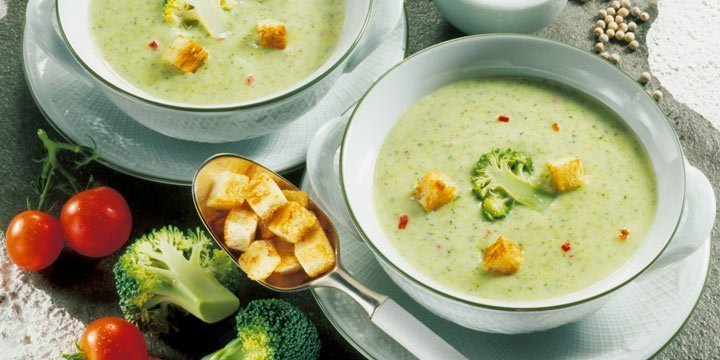 Mit Brokkoli-Creme-Suppe dem Herbstwetter trotzen