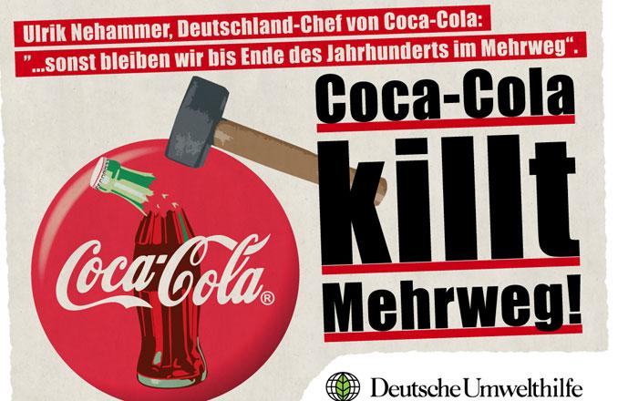 DUH klagt Cola wegen Mehrweg Lüge an