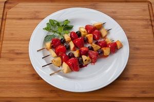 Süßes Dessert vom Grill © Bundesprogramm für ökologischen Landbau