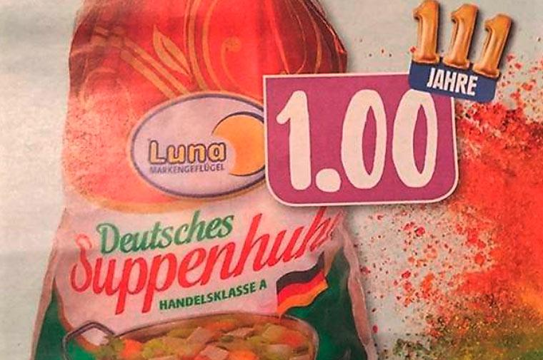 Billigfleisch bei Edeka: ein Huhn für einen Euro