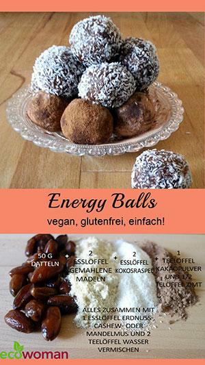 ecowoman-Rezept für leckere Energyballs