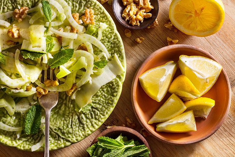 Leckere und gesunde Salate mit Fenchel und Birnen zaubern.
