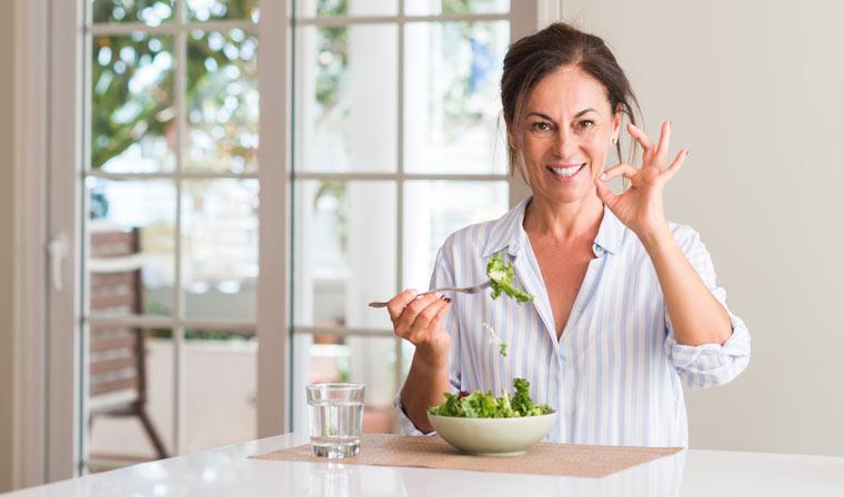 Gesunde Ernährung mit 40