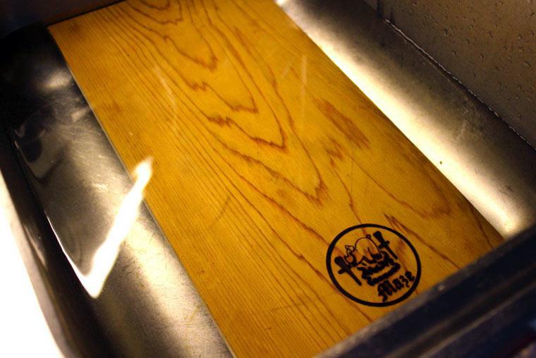 das Planke-Grillbrett wässern