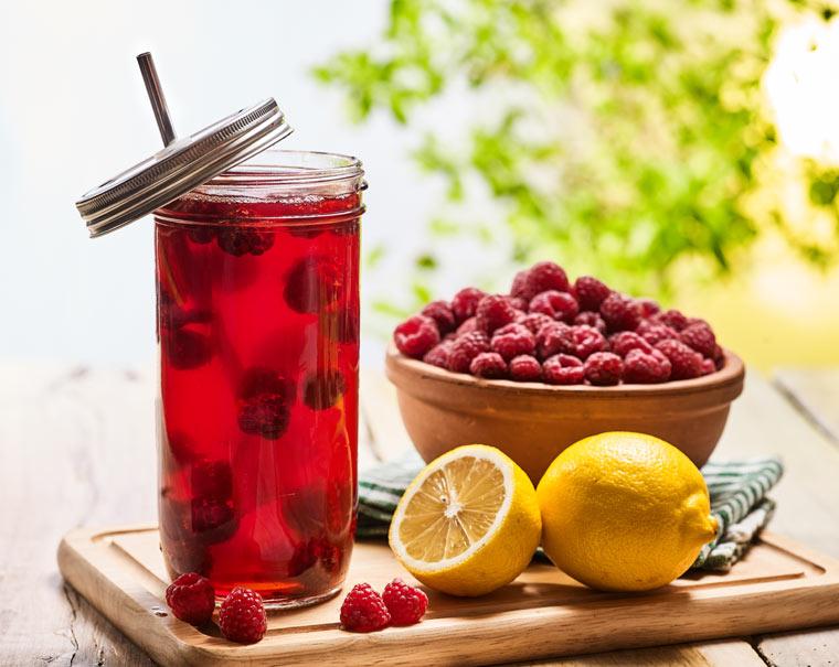 Rezept Himbeer - Limonade: fruchtig und lecker
