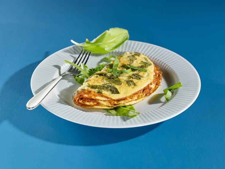 Käse-Omelette mit Sauerampfer