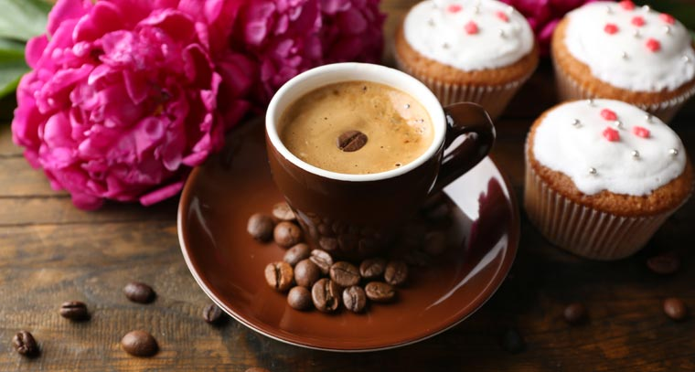Zu einem leckeren Kaffee passend Cupcakes immer gut