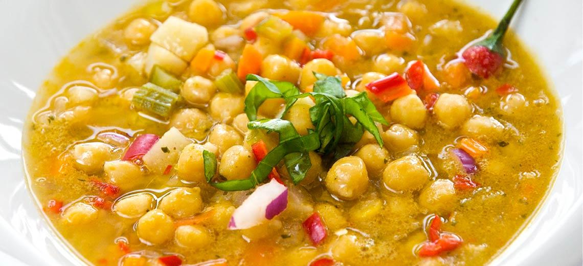 Rezept: Kichererbsensuppe mit Chili und Ingwer