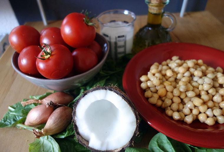 Veganes Gericht mit Kichererbsen