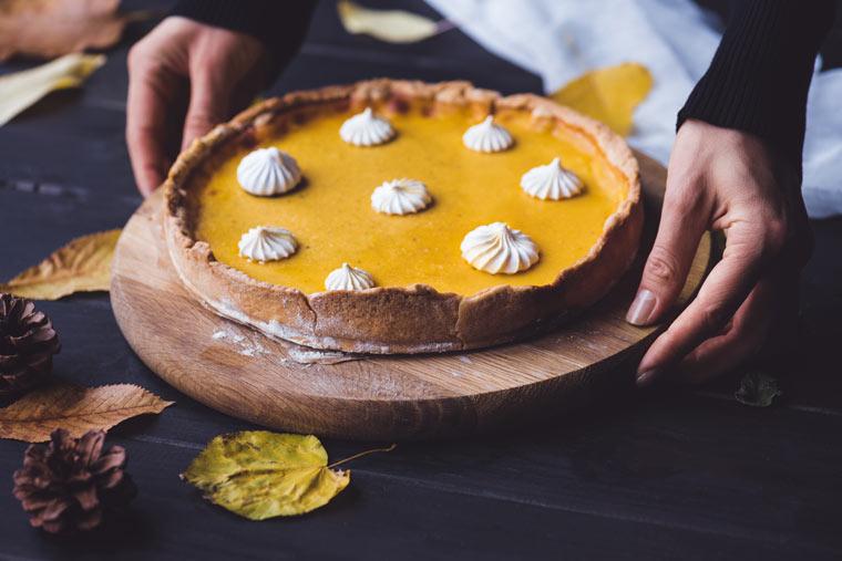 Rezeptidee: Kürbiskuchen (Pumpkin Pie)