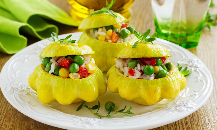 Die kleinen sweet Dumplings kann man wunderbar füllen