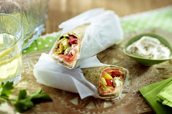Leckere Wraps mit Lachs © ?REWE Bio? by Food & Foto, Hamburg