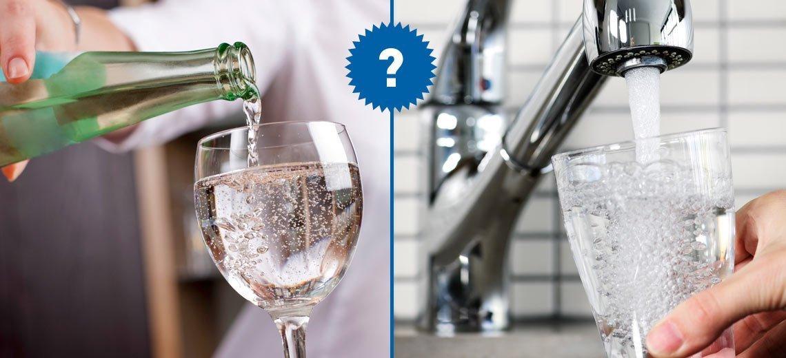 Leitungswasser oder Mineralwasser?