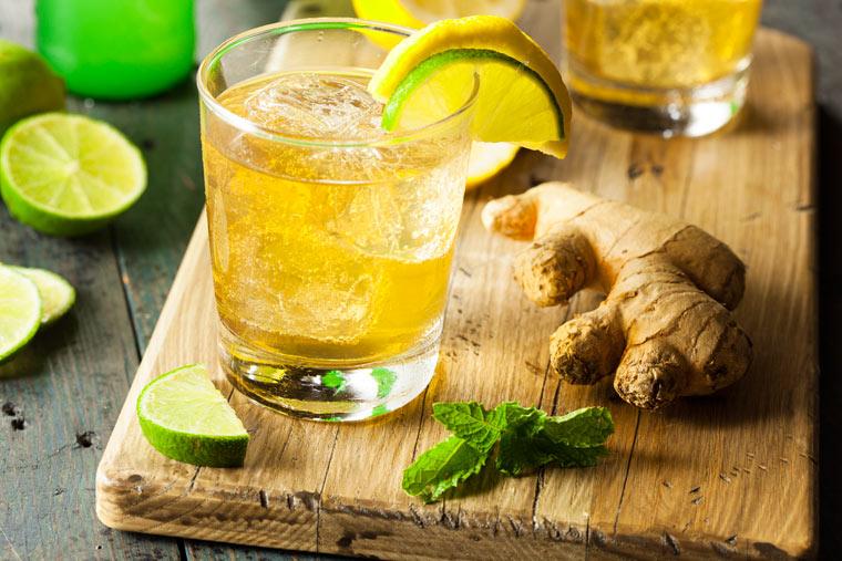 Limetten - Ingwer - Limonade: das Beste für heiße Tage