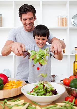 Viele Männer lassen sich von vegetarischen Speisen überzeugen