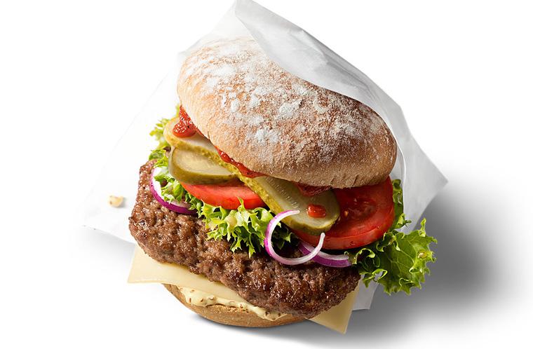 Der neue Burger von Mc Donalds McB mit Biobulette