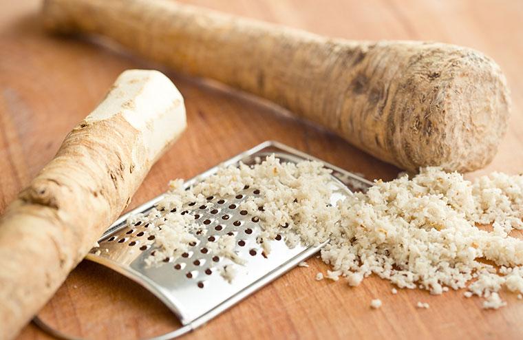 Scharfes Superfood - Merrettich wirkt gegen Bakterien und Viren.